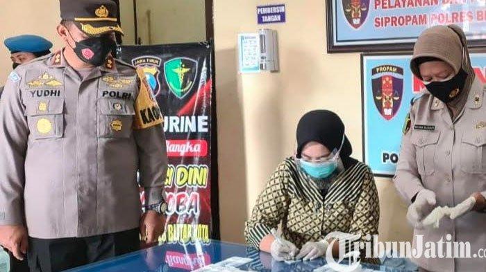 Seusai Bacakan Komitmen Anti Narkoba, 22 Personel Polres Blitar Kota Jalani Tes Urine