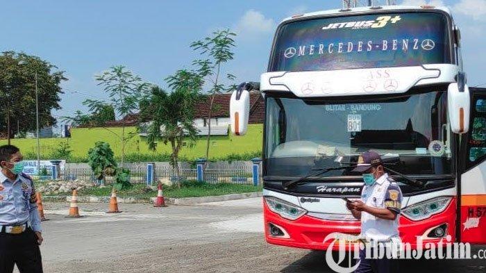 Bus AKDP di Terminal Patria Kota Blitar Dilarang Beroperasi Mulai 6-17 Mei 2021