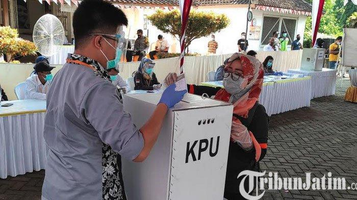 Gelar Simulasi Pemungutan Suara Pilbup 2020, KPU Kabupaten Blitar Aman Datang ke TPS