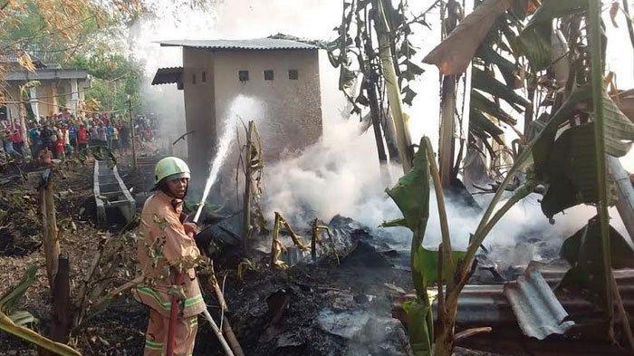 Rumah Pemulung di Bojonegoro Ludes Dilalap Api, Diduga Akibat Pembakaran Kabel
