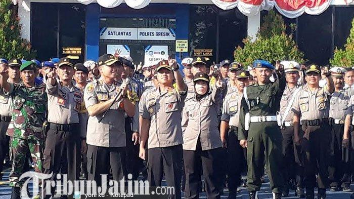 Operasi Patuh Semeru 2019, Anggota Polres Gresik Diimbau Tetap Waspada dan Bawa Senpi
