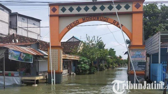 Kali Lamong Meluap Lagi, Empat Kecamatan di Kabupaten Gresik Terendam Banjir