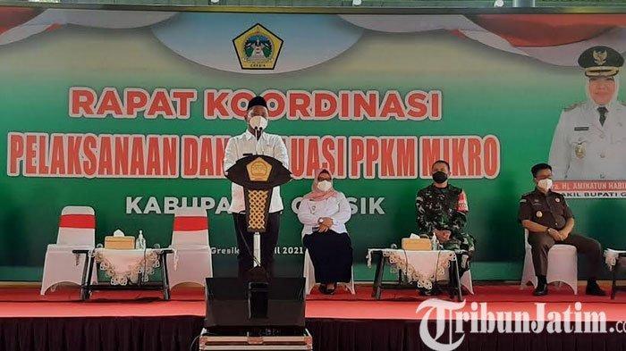 Bupati Gresik Gus Yani Minta Kepala Desa Perkuat PPKM Mikro dengan Libatkan RT dan RW
