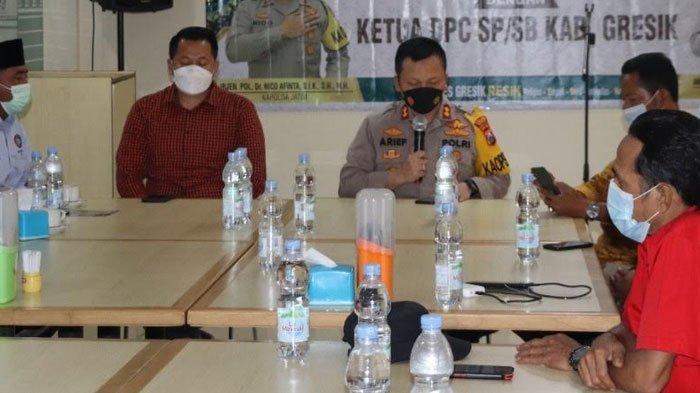 Kapolres Gresik Silaturahmi Bersama Para Ketua DPC SP/SB Kabupaten Gresik