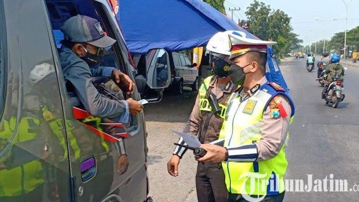 101 Kendaraan Pemudik Putar Balik Hari Ini di Wilayah Gresik, Ada Pemudik Positif Covid-19
