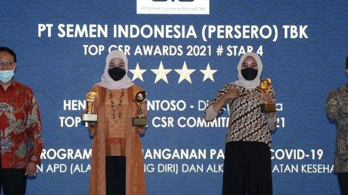 PT Semen Indonesia Raih Tiga Penghargaan dalam Ajang TOP CSR Awards 2021
