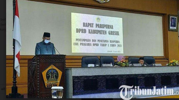 DPRD Gresik Sampaikan Empat Ranperda Usul Prakarsa Legislatif