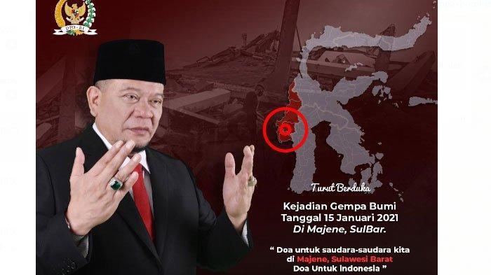 Ketua DPD RI, LaNyalla Sampaikan Keprihatinan Atas Musibah Gempa Bumi di Sulawesi Barat