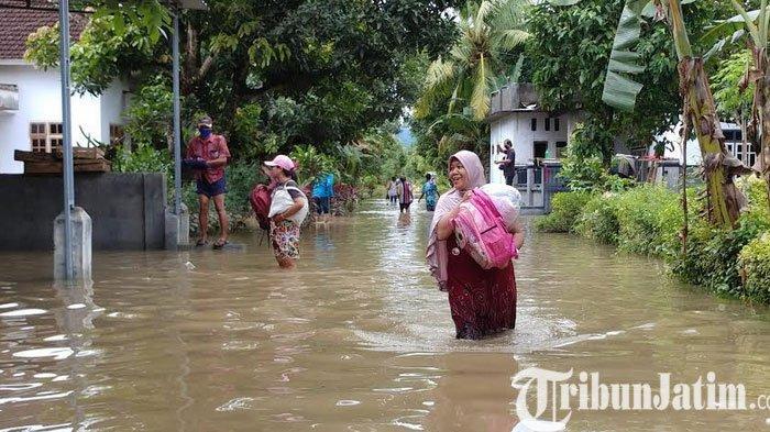 Banjir di Wonoasri Kabupaten Jember Berangsur Surut, Ratusan Rumah Masih Terendam