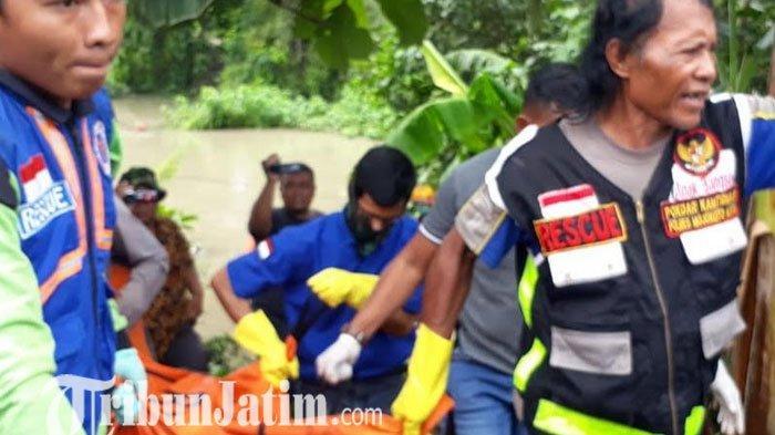 Heboh, Penemuan Mayat Perempuan Nyangkut Semak di Sungai Konto Jombang