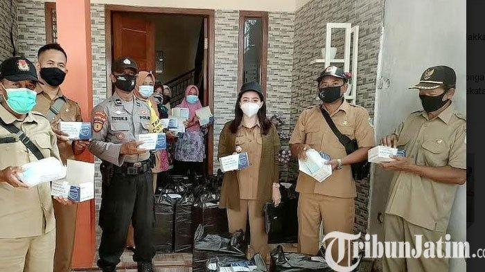 PPKM Darurat di Lamongan, Kades Cantik Angely Emitasari Tingkatkan Jumlah Bantuan  Sembako