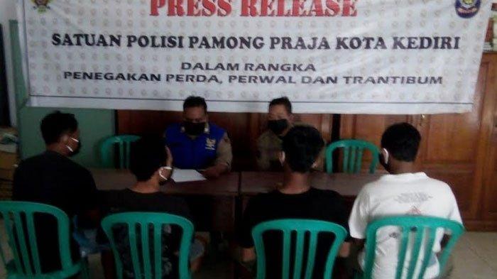 Arena Pesta Miras Digrebek Satpol PP Kota Kediri, 4 Remaja Diamankan