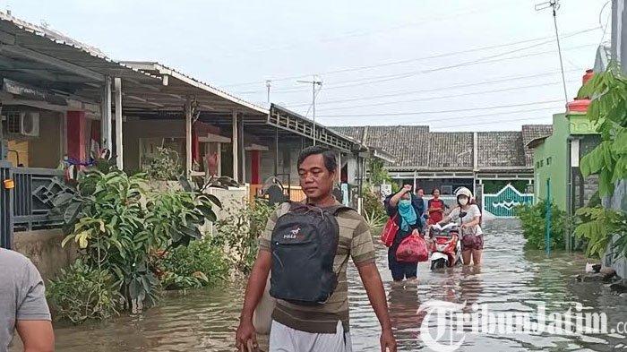 Curah Hujan Tinggi, Ratusan Rumah Teredam Banjir di 2 Desa Kecamatan Ngasem Kediri