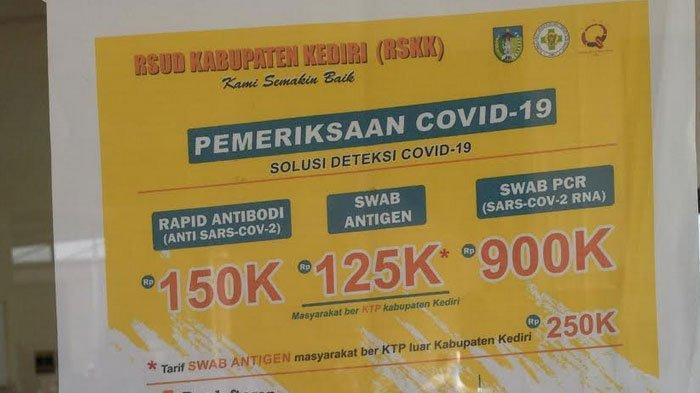 Biaya Swab Antigen di Kabuaten Hanya Rp 125.000, Syaratnya ini