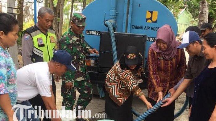 Kemarau Panjang 375 KK di Kota Kediri Bergantung Droping Air Bersih