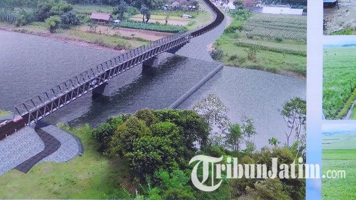 Basuki dan Pramono Anung Resmikan Pembangunan Jembatan Ngadiluwih Kediri