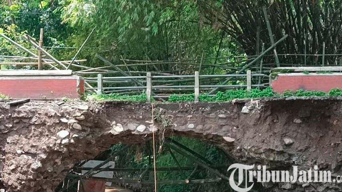Pasca Ambles Kondisi Jembatan Gedangsewu Pare Kediri Semakin Memperihatinkan dan Nyaris Putus