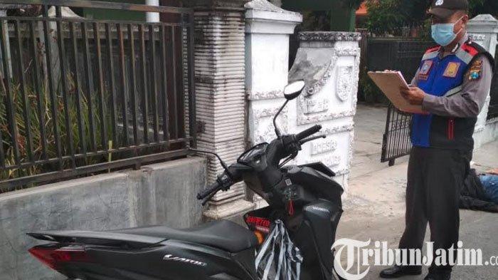 Diduga Mengantuk Seorang Pengendara Motor Asal Ngawi Tewas, Tabrak Tembok di Kediri