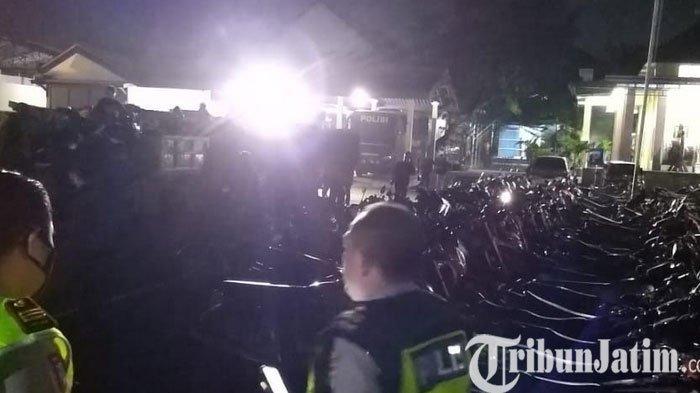 236 Kendaraan Unit Sepeda Motor Diamankan Satlantas Polres Kediri dalam Operasi Balap Liar