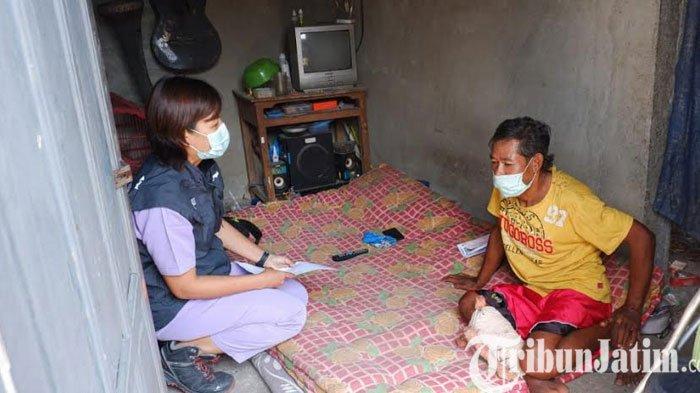 Dua Tahun Dirawat Tim Home Care Peduli Kondisi Suramin warga Nganmpel Kota Kediri Kini Membaik