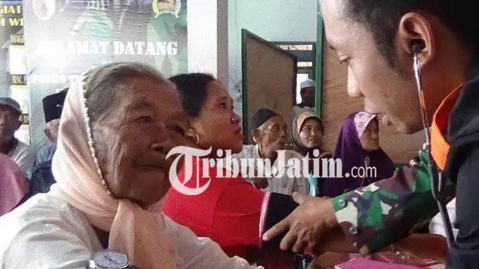 Warga Lereng Gunung Wilis Kabupaten Kediri Antusias Berobat Gratis