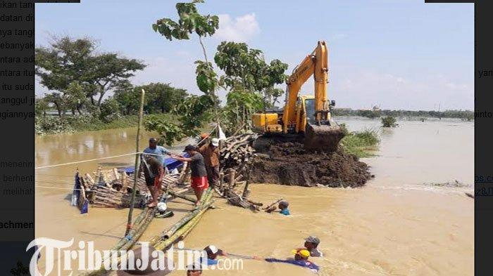 Tanggul Jebol di Kecamatan Turi Lamongan Dikebut, Hari ini Datangkan Alat Berat