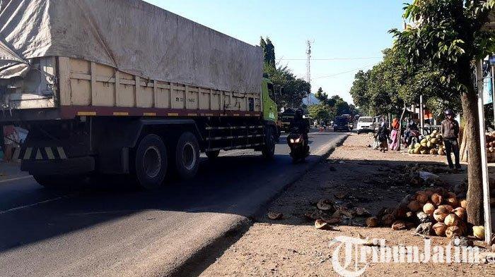 Truk Tronton Tabrak Pedagang di Pasar Pisang Lumajang, 1 Tewas 5 Luka Berat