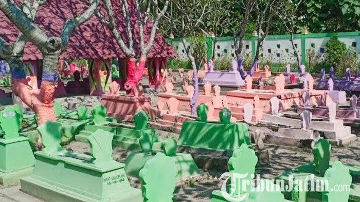 Viral, Makam di Kota Madiun Dicat Warna-warni