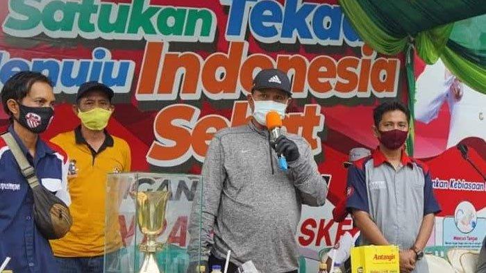 Wali Kota Madiun, Maidi Bagikan Masker dan Cek Penerapan Prokes di Lokasi Lomba Burung Berkicau