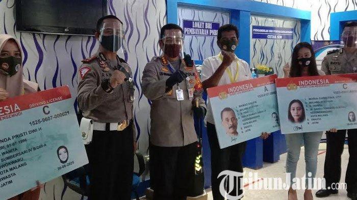 Polresta Malang Kota Berikan SIM Gratis Kepada 74 Warga Kota Malang