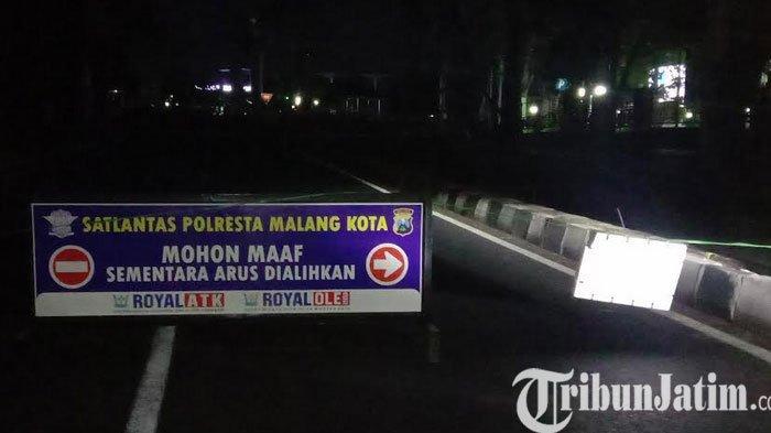 PPKM Darurat, Dua Ruas Jalan Di Kota Malang Dilakukan Penutupan