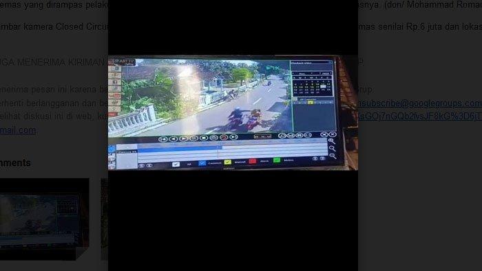 Aksi Jambret Kalung Emas Terekam Kamera CCTV di Prajuritkulon Kota Mojokerto