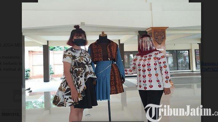 Cristy Desainer Muda Berbakat Ciptakan Karya Batik Vintage Milleneal Khas Kota Mojokerto