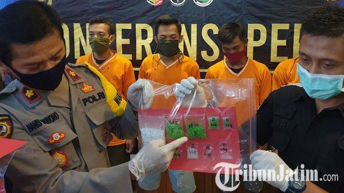 Polisi Mojokerto Bekuk Pengedar Narkoba, Sabu Warna Hijau Sangat Berbahaya
