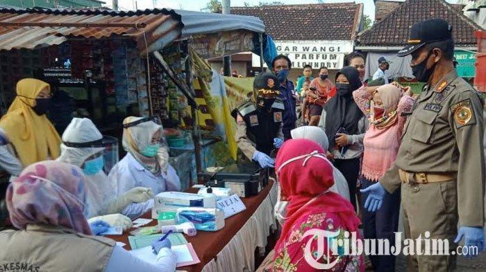 873 Orang Jalani Rapid Test Covid-19 Massal di Pasar Sooko dan Kemlagi Mojokerto