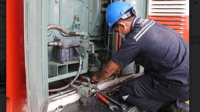 Masa Pandemi Covid-19, KAI Daop 7 Rutin Lakukan Perawatan Lokomotif Kereta Api