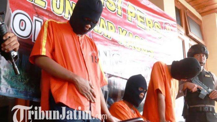 Polisi Ngawi Berhasil Tangkap Kawanan Begal Sadis, Tiga Pelaku Ditembak Kakinya
