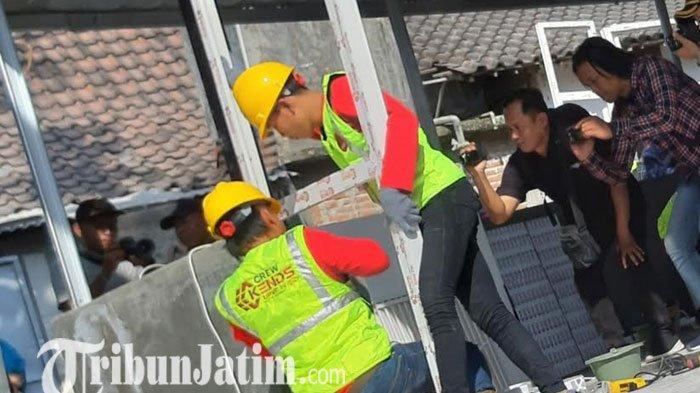 Menristek Pamerkan Rumah Tahan Gempa Tipe 36 Dibangun dalam 5 jam