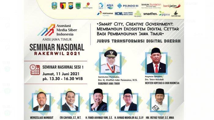 Gelar Rakerwil 2021, AMSI Jatim Dorong Kolaborasi untuk Picu Pertumbuhan Ekonomi Digital