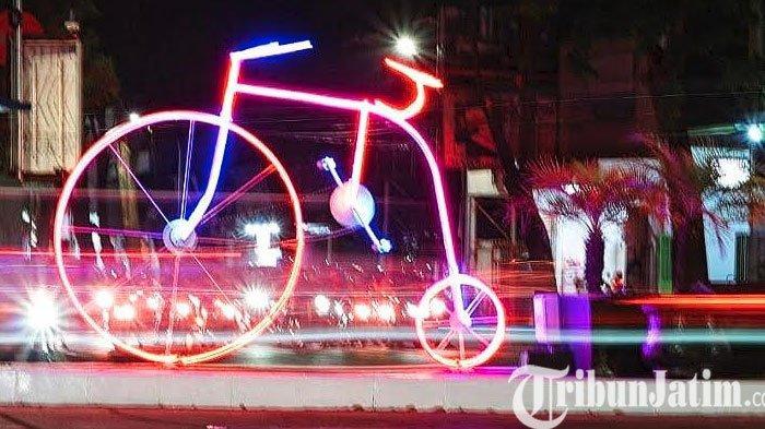 Percantik Kota Pasuruan, Pemkot Bangun Ikon Baru Sepeda Lampu