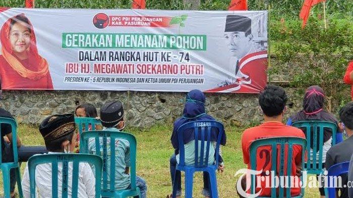 Ultah Ketum Megawati ke - 74, PDIP Pasuruan Beri Hadiah Dengan Gerakan Tanam Pohon