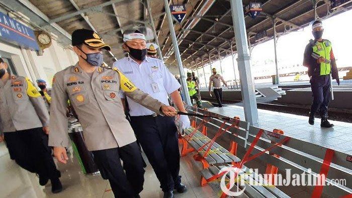 New Normal, Kapolres Pasuruan Mengecek Stasiun Tangguh Bangil
