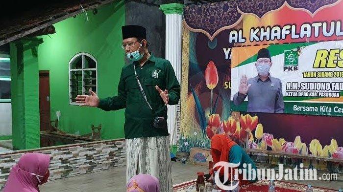 Reses, Ketua DPRD Kabupaten Pasuruan Beri Paket Sembako Guru Madin dan TPQ