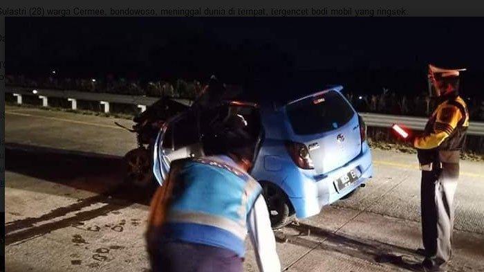 Alami Kecelakaan di Tol Gempol - Pasuran, Seorang Penumpang Tewas Tregencet Mobil