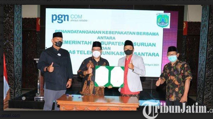 Pemkab Mou Bersama PGNCOM Bangun Jaringan Internet HIngga ke Pelosok