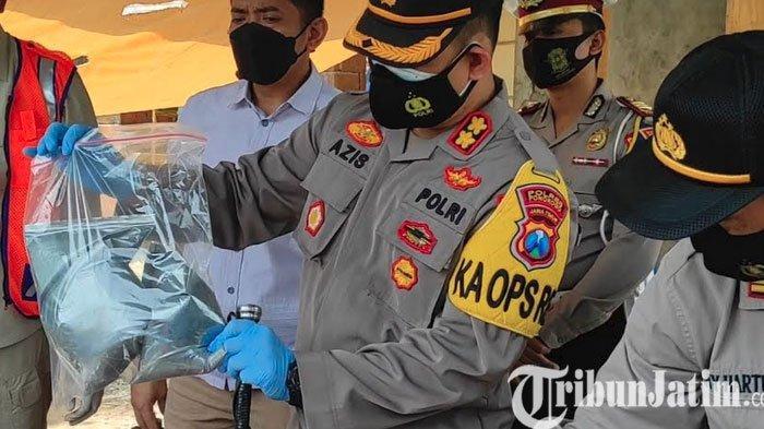 Polisi Amankan Bubuk petasan dan Gulungan Plastik Bahan Balon Udara,  Labfor Polda Bantu Otopsi