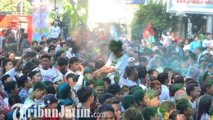 Colour Run Penanda Masyarakat Probolinggo Tolak Kerusuhan Untuk Indonesia Damai