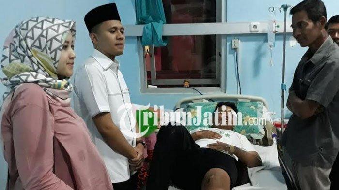 Caleg DPR RI Kunjungi Korban di RSUD Tongas Yang Tertimpa Alat Peraga Kampanye Miliknya