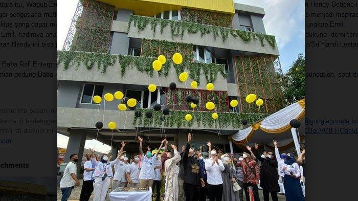 Hendy Setiono Resmikan  Baba Rafi Plaza Untuk Memberi Inspirasi UMKM Maju Terus
