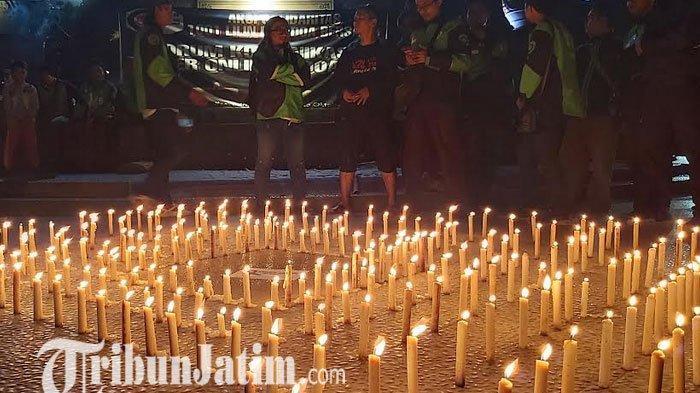 Ratusan Driver Taksi dan Ojek Online Sidoarjo Gelar Doa Bersama untuk Rusdianto